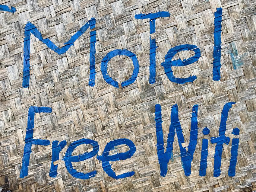 Panneau d'information sur le wifi gratuit